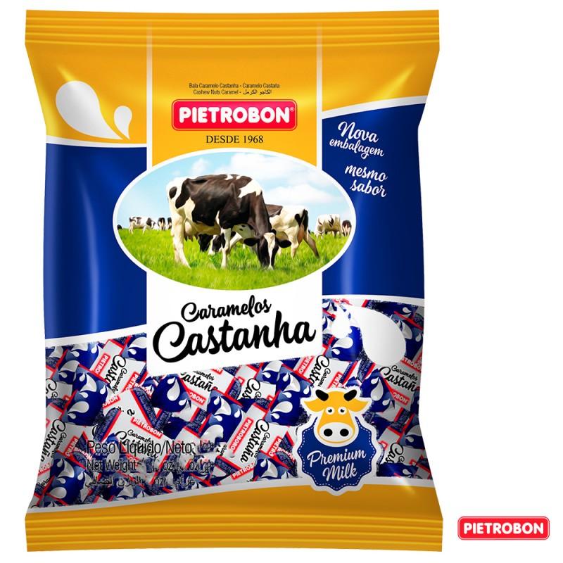 Bala Caramelo •Castanha 600g •Pietrobon