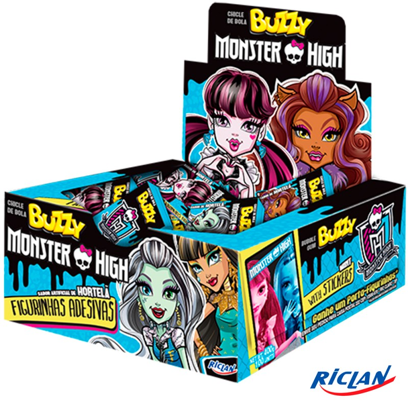 Chicle • Buzzy • Monster High • Hortelã • 400g • Riclan