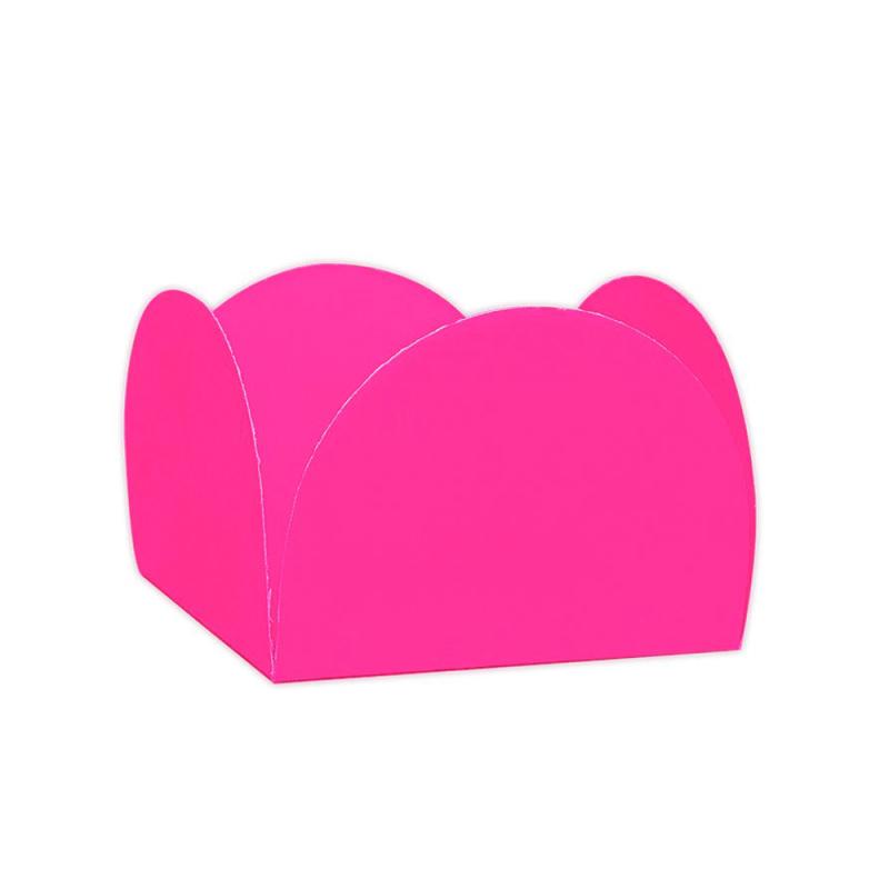 Forminha Quatro Pétalas  50un Rosa Neon - NC TOYS