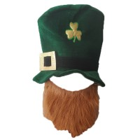 Cartola com Barba • Veludo • Verde • Halloween