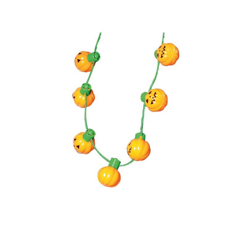 Colar Abóbora  • 9 Leds • Halloween | Cromus
