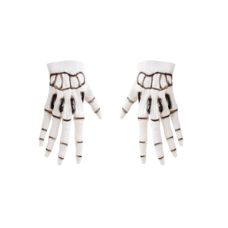 Luvas Esqueleto • Zumbi • 1 Un • Halloween   Cromus