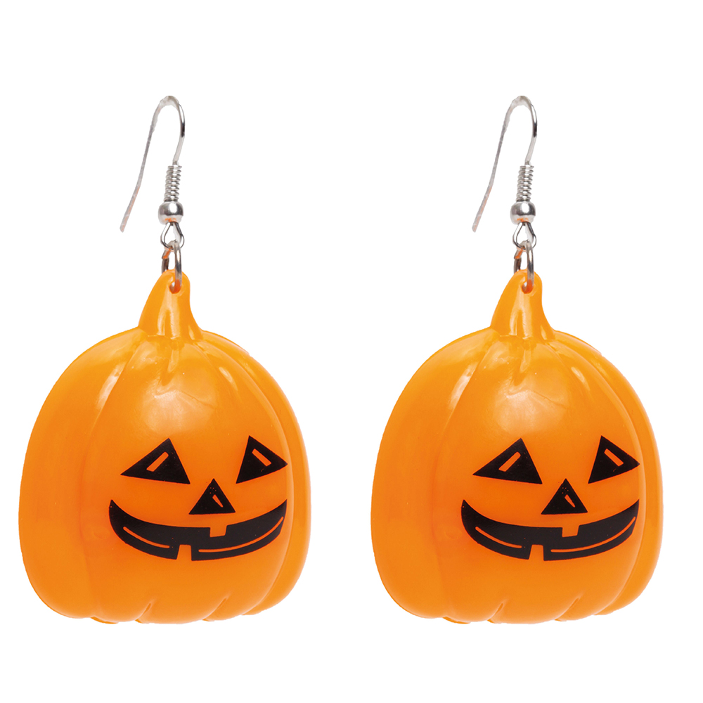 Par de Brincos Abóbora • Led • Halloween   Cromus
