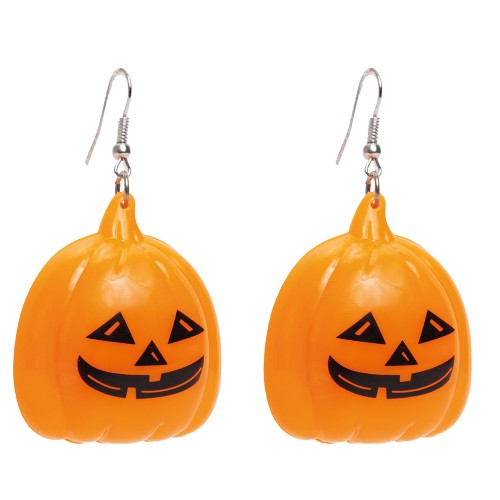Par de Brincos Abóbora • Led • Halloween | Cromus