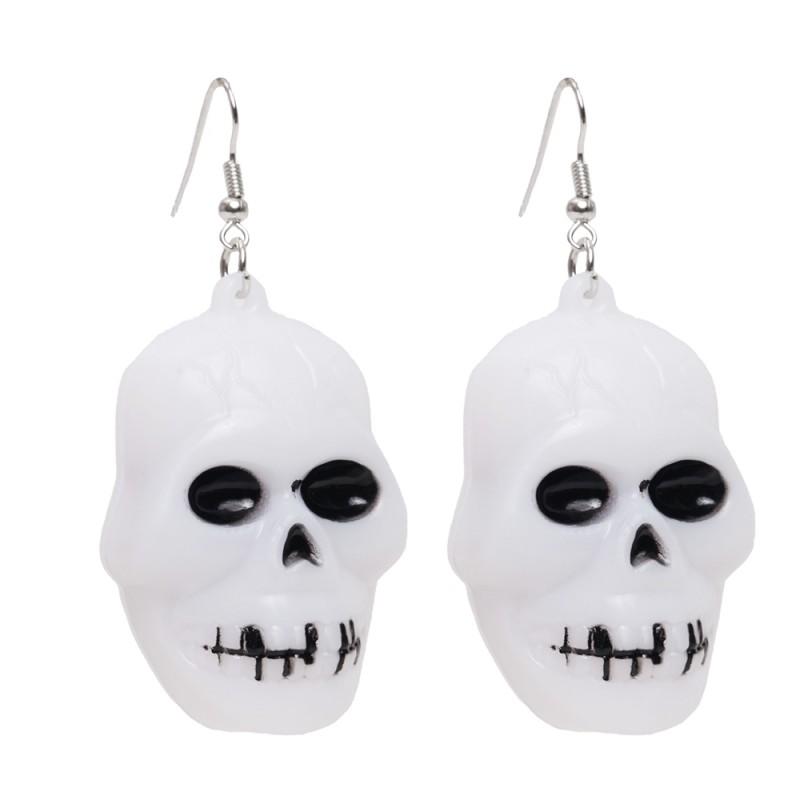 Par de Brincos Esqueleto • Led • Halloween   Cromus