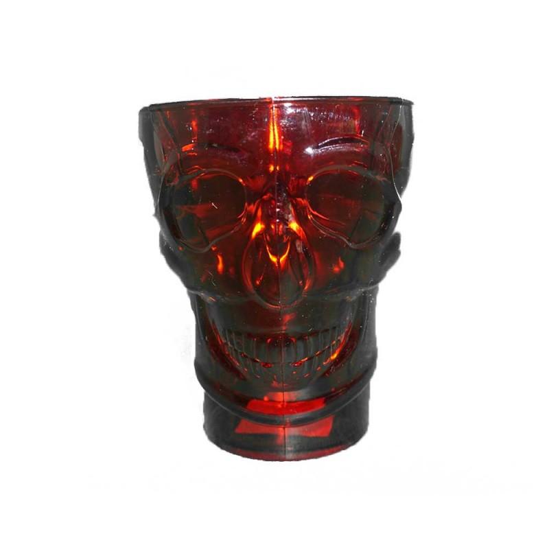 Caneca Acrilica Caveira • Vermelha • Halloween