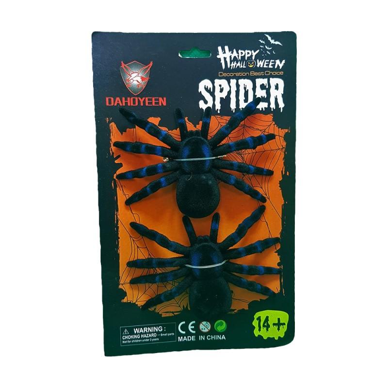 Aranha • Plástica • Preta • 1Un • Halloween | Moda Mix