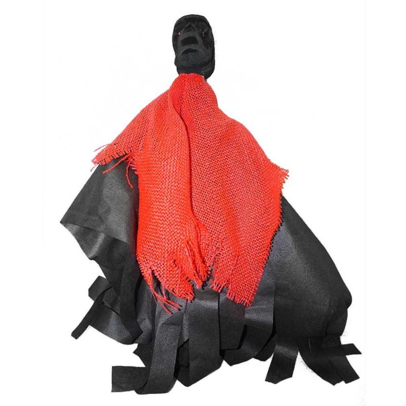 Espantalho Caveira Palito • Vermelha • Halloween