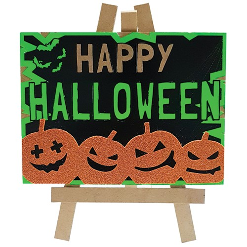 Lousa Decorativa Abóboras • Halloween • EVA • MDF • 1 Un • Grintoy