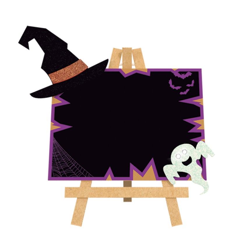 Lousa Decorativa Leds • Halloween • EVA • MDF • 1 Un • Grintoy