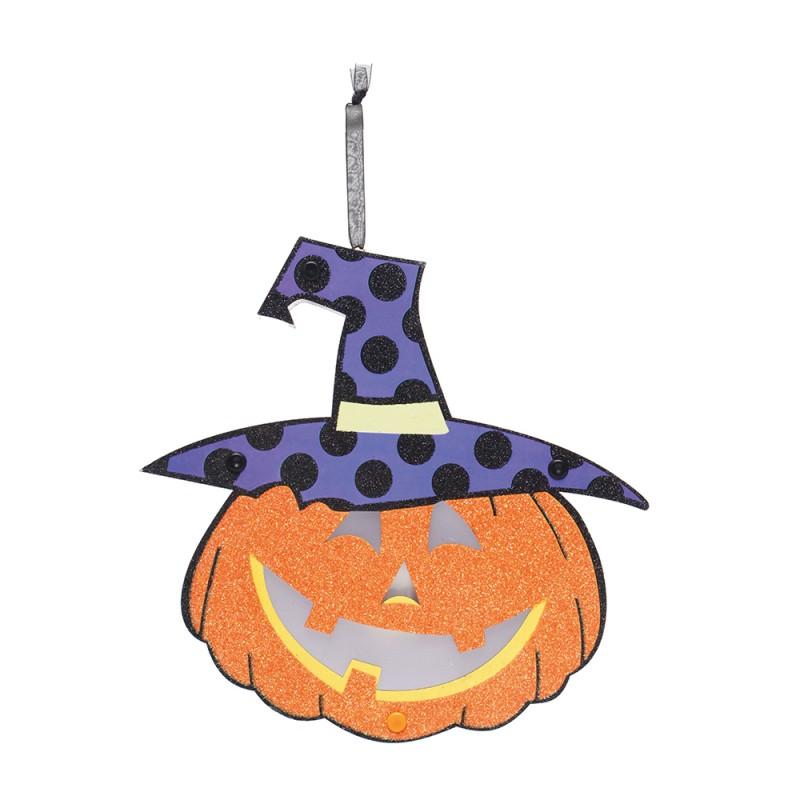 Luminária Abóbora • C/ Led • Halloween • 1 Un| Cromus