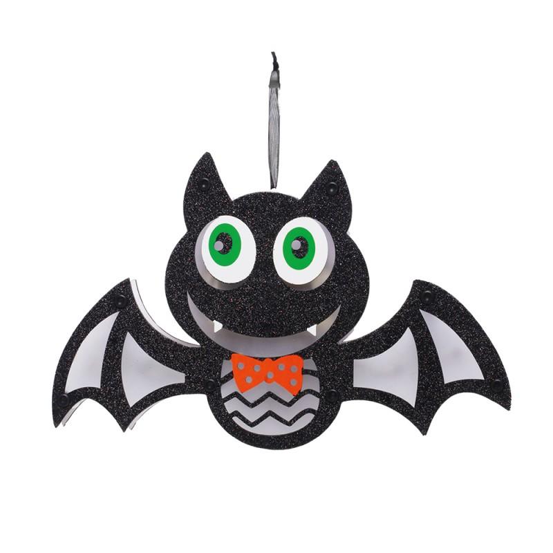 Luminária Morcego • C/ Led • Halloween • 1 Un| Cromus