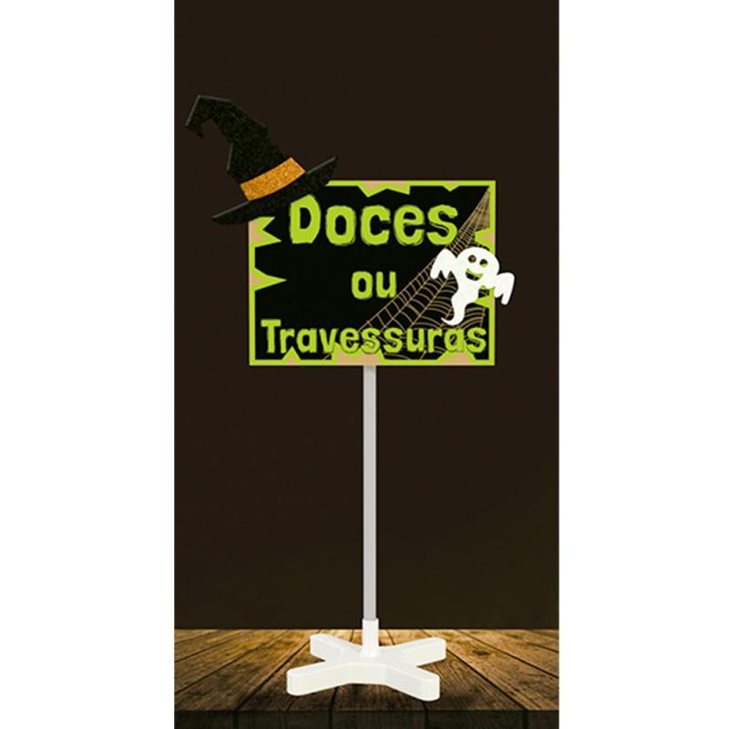 Placa com Hastes • Halloween • EVA • MDF • 1 Un • Grintoy