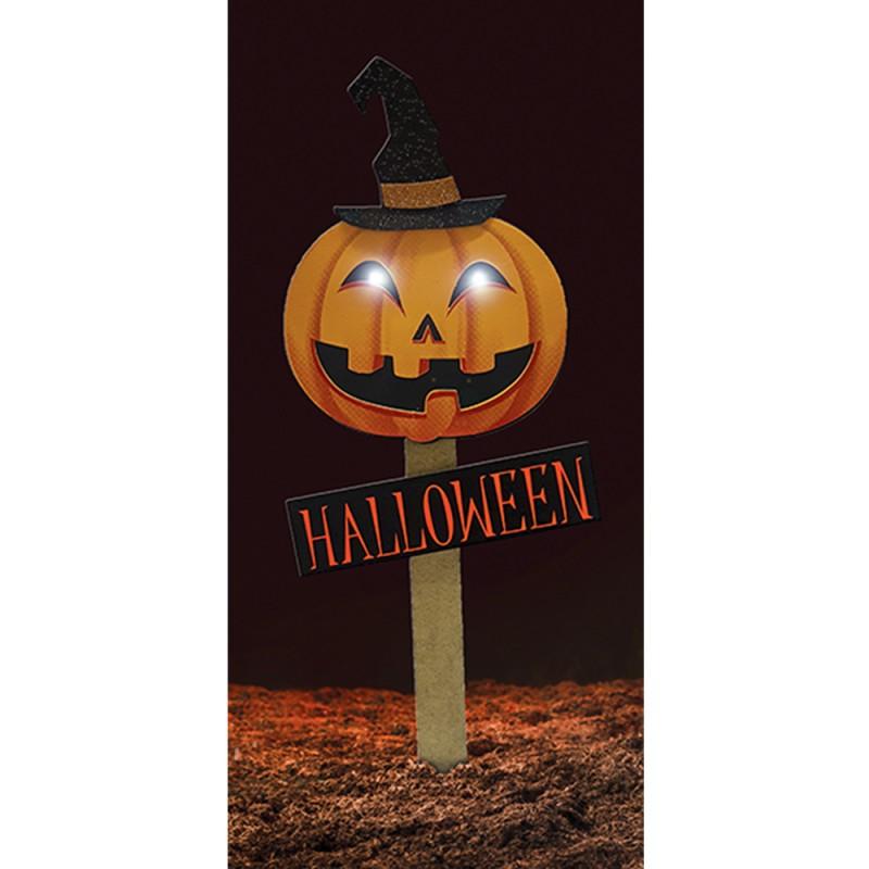 Placa Jardim com Leds • Halloween • EVA • 1 Un • Grintoy