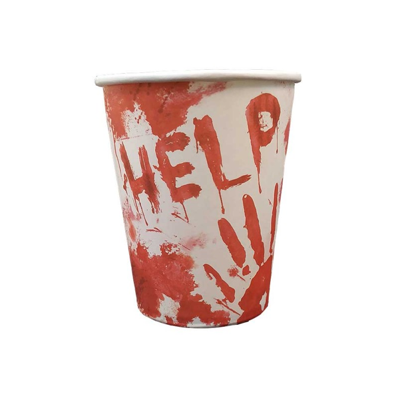 Copo Descartável • Help • Halloween • Silver Plastic