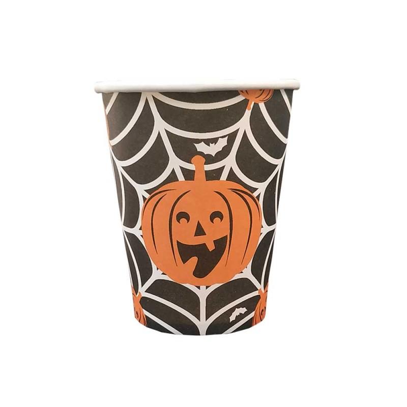 Copo Descartável • Teia • Halloween • Silver Plastic
