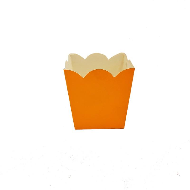 Mini Cachepot - Laranja • Liso • 10 un