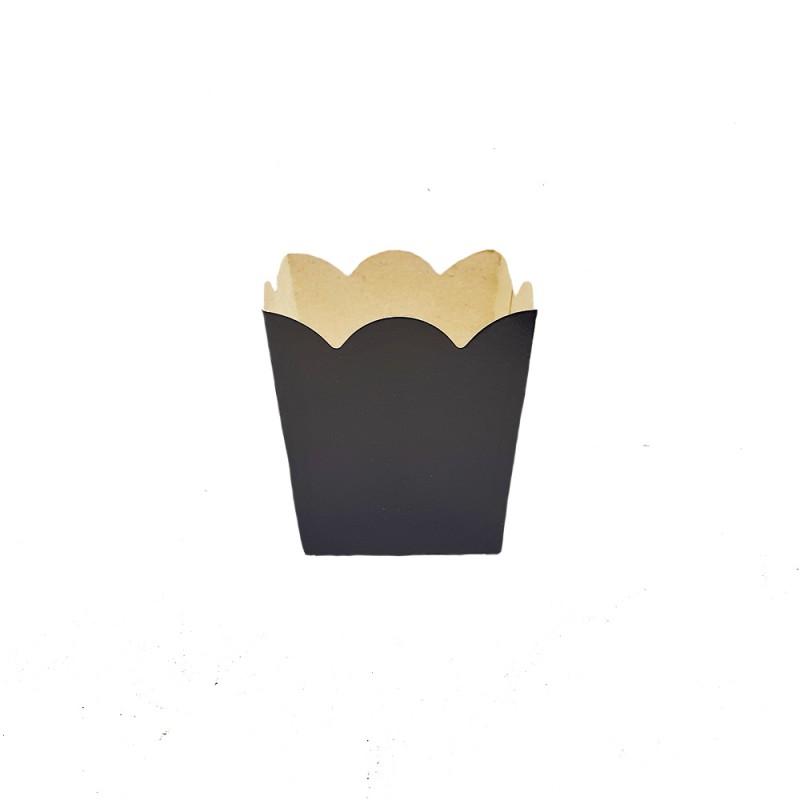 Mini Cachepot • Preto • Liso • 10 un