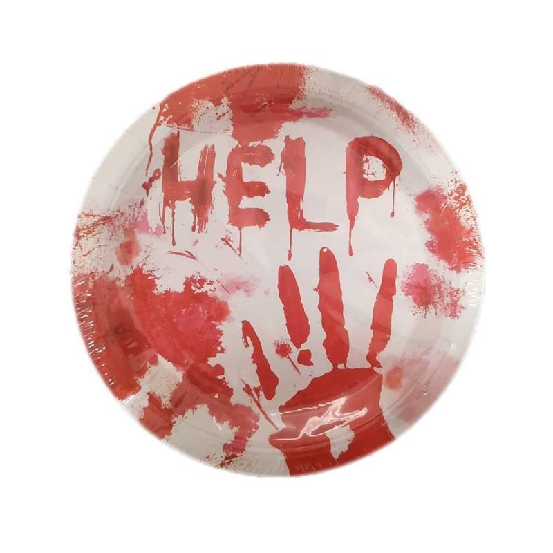 Prato • 10un. • Help Halloween • Silver Plastic