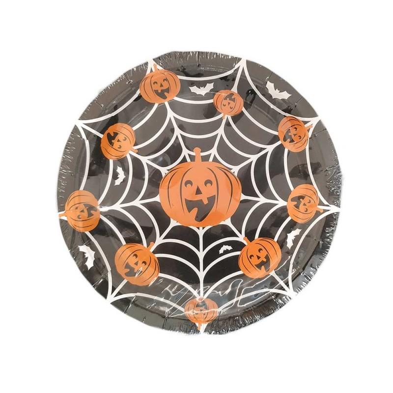 Prato • 10un. • Teia Halloween • Silver Plastic