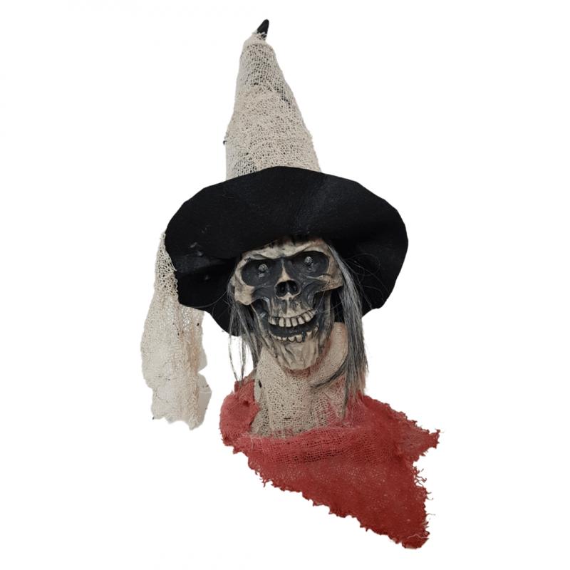 Bruxa Caveira Eletrônica - Halloween
