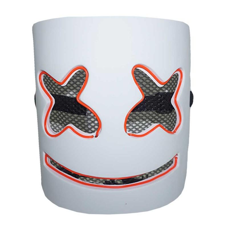 Máscara • Dj Marshmello • Led Laranja • Halloween