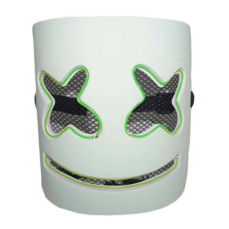 Máscara • Dj Marshmello • Led Verde• Halloween