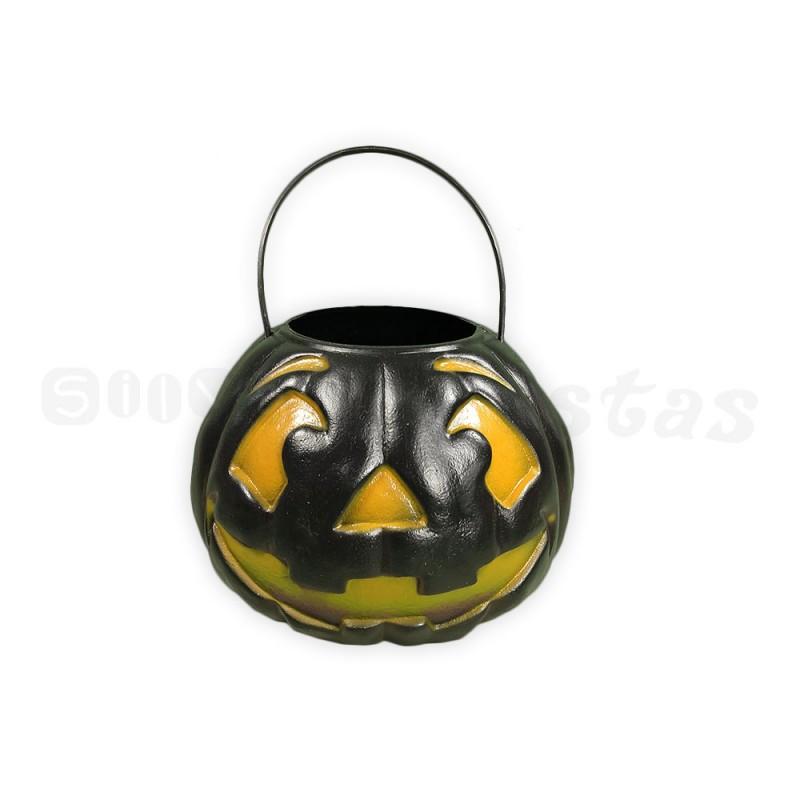 Balde de Abóbora • Preto • Halloween