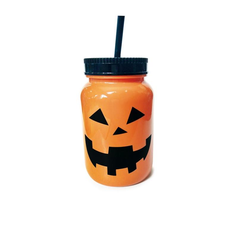 Caneca • Plástico • Abóbora • Halloween • Halloween