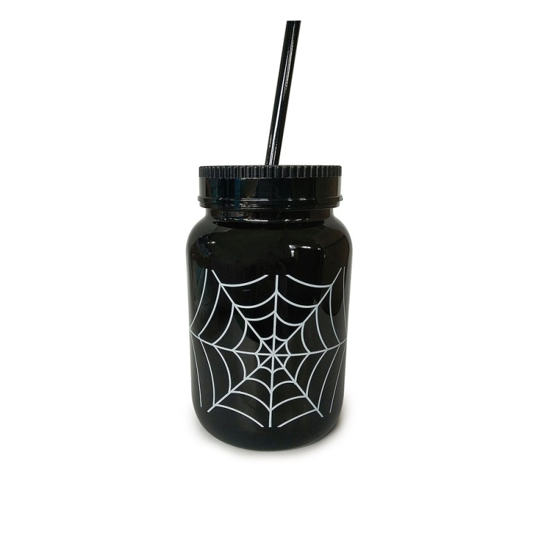 Caneca • Plástico • Teia • Halloween • Halloween