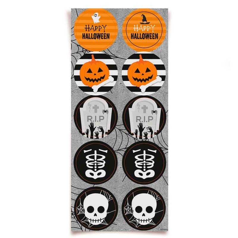 Adesivo Decorativo • Halloween • 30un.• Cromus