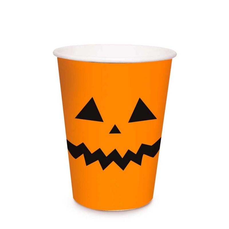 Copo Descartável • Abóbora • Halloween • Cromus