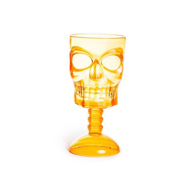 Taça Caveira • Laranja • Halloween • Cromus