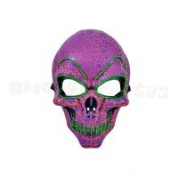 Máscara Caveira com LED • Verde • Halloween