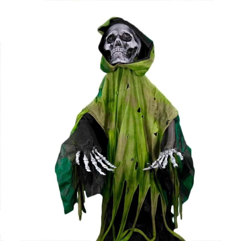 Caveira • Preto com Verde • Halloween
