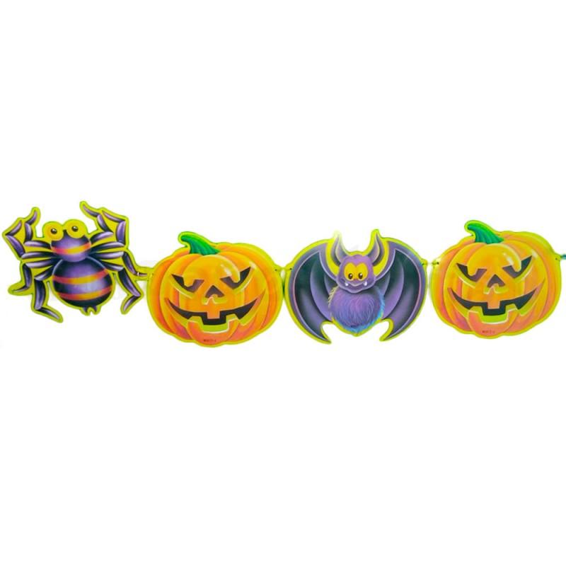 Faixa Abóbora Aranha e Morcegos • Halloween