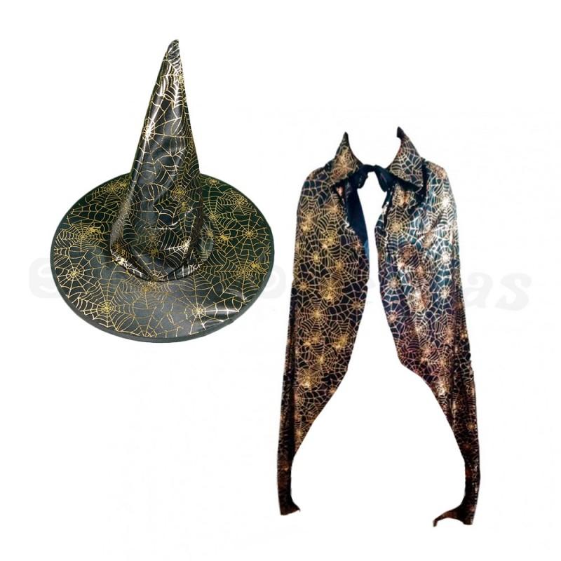 Kit de Bruxa Teia • Dourado • Halloween