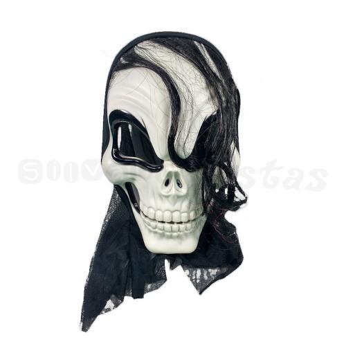 Máscara • Caveira com Cabelo • Halloween