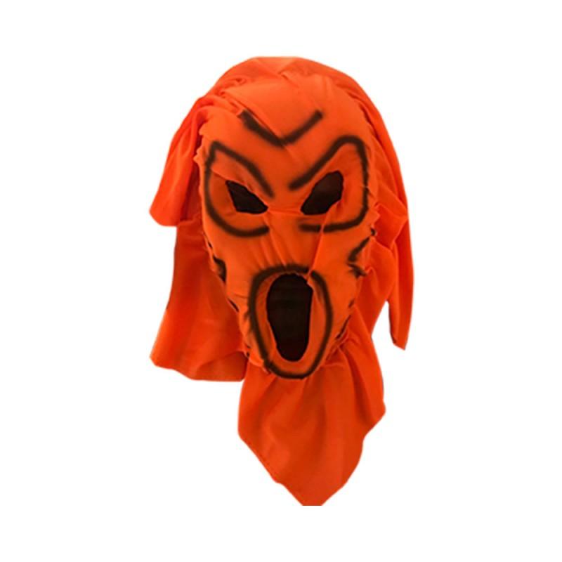 Máscara Assustadora Laranja • Halloween