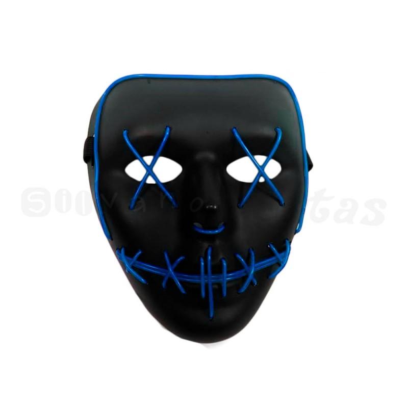 Máscara com LED • Azul