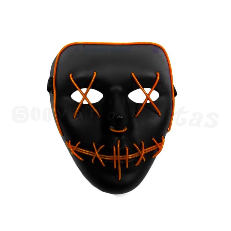 Máscara com LED • Laranja • Halloween