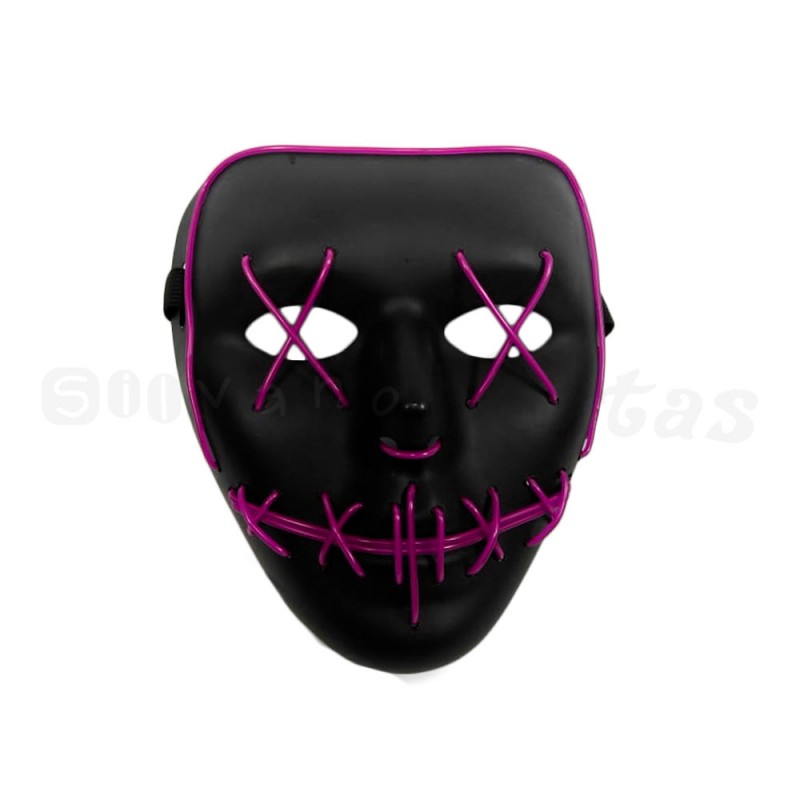 Máscara com LED • Rosa • Halloween