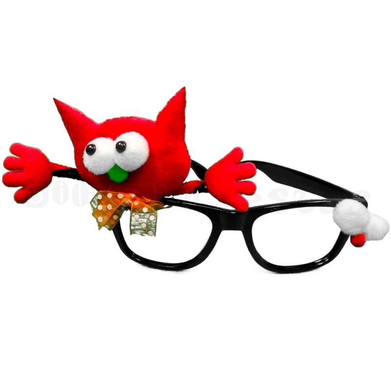 Óculos Decorado • Vermelho • Halloween