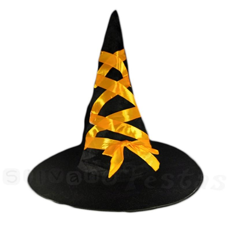 Chapéu de Bruxa • Fita Amarelo • Halloween