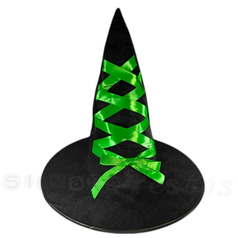Chapéu de Bruxa • Fita Verde • Halloween