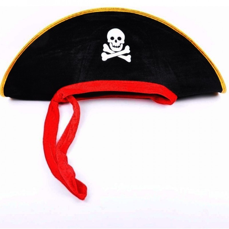 Chapéu • Pirata • Preto • 1 Un  • Halloween
