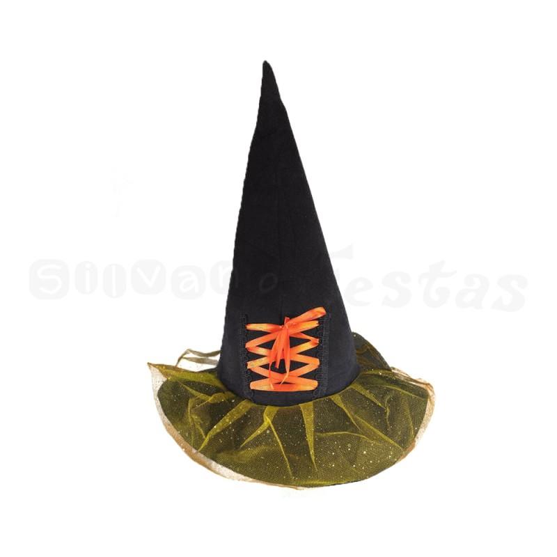 Chapéu de Bruxa • Laranja • Halloween