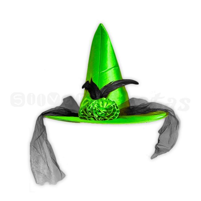 Chapéu de Bruxa • Verde e Preto • Halloween