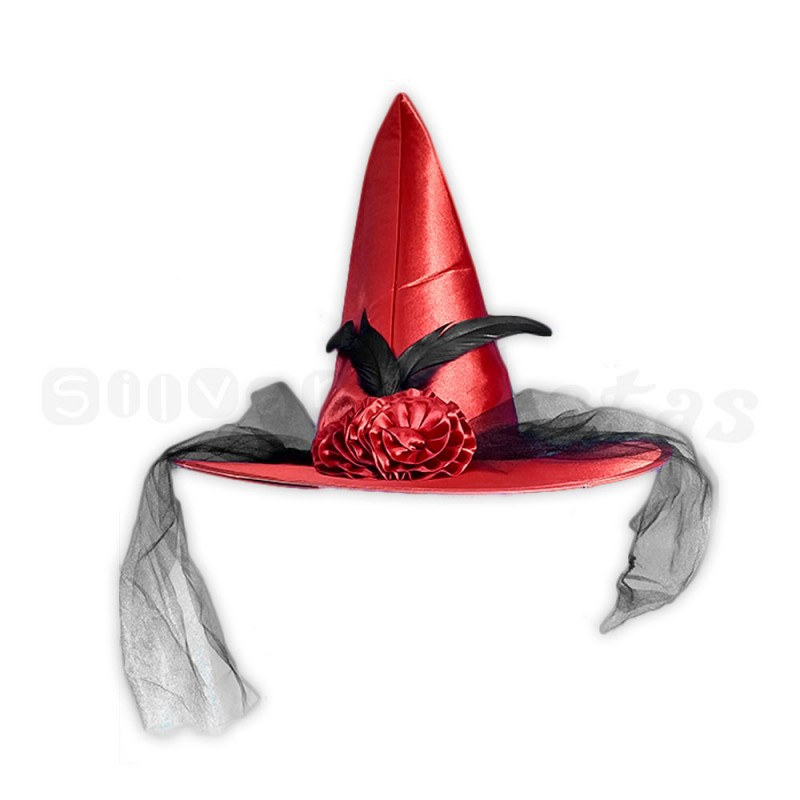 Chapéu de Bruxa • Vermelho • Halloween