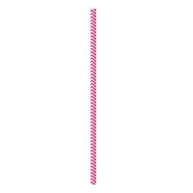 Canudo Sorbete de Papel • 20un.• Rosa • Cromus